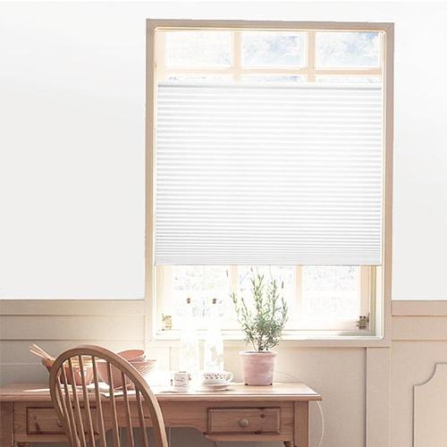 Windows Self-Adhesive Pleated Blinds Half Blackout Curtains for Bathroom Kitchen Balcony Shades  Blinds Shades & Shutters