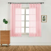Europe Solid White Yarn Curtain Window Tulle Curtains  Modern Window Treatments Voile Living Room Kitchen Home Decoration