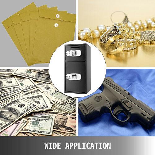 VEVOR Home Electronic Hidden Digital Double Door Safes Money Valuables Weapons Components Deposit Lock with Fingerprint Box