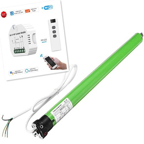 Dooya Tubular Motor DM35S, WiFi Smart Blinds Module Switch Roller Shutter Motor Tuya Remote Control,Voice Control Schedule Timer