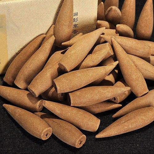 22Pcs+1Pcs Holder Oversized 30 Minutes Smoke Backflow Tower Incense Cones Gift Hardcover Sandalwood Incense Cones Ceramic Burner