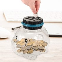 1.5L Piggy Bank Counter Coin Electronic Digital LCD Counting Coin Money Saving Box Jar Coins Storage Box USD EURO GBP Money