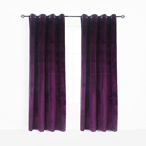 Modern Solid Velvet Curtains for The Bedroom Living Room Custom Size Blackout Curtain Blinds Finished Drapes Window