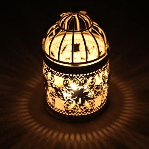 Decorative Moroccan Lantern Votive Candle Holder Hanging Lantern Vintage Christmas Candlesticks Home Decoration Lantern