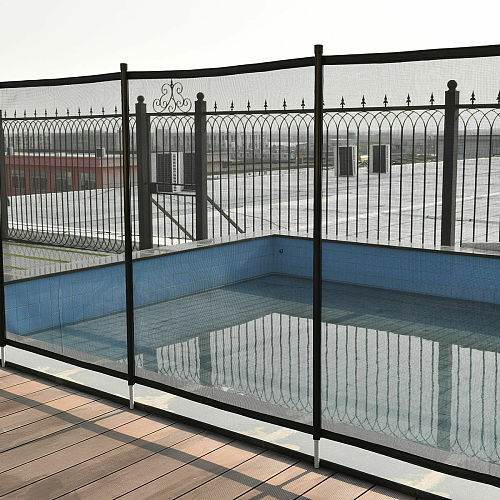Costway In-Ground Swimming Pool Safety Fence Section Accidental Drowning Prevent 4'x12'