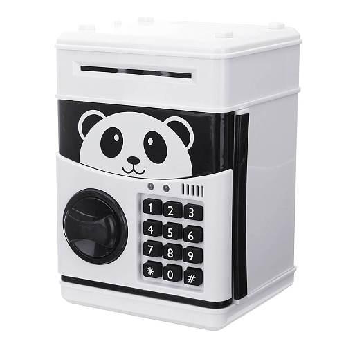 Panda Electronic Piggy Bank ATM Password Money Box Cash Coins Saving Box Bank Safe Box Automatic Deposit Banknote Christmas Gift