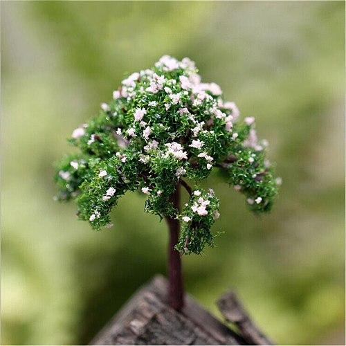 Mini Tree Fairy Garden Decorations Miniatures Micro Landscape Bonsai Figurine Garden Terrarium Accessories Resin Crafts