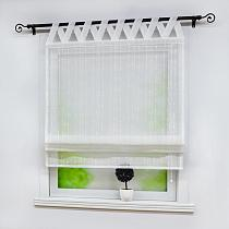 Roman Curtains Pure White Raindrops Polyester Windows Sheer Tulle Drapes for Kitchen Home Decoration 1PCS