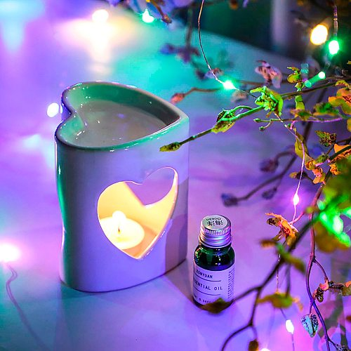 Ceramic Love Burner Candle Holders Aromatherapy Oil Lamp Decorations Aroma Furna Candle Holders Home Furnishing Decoration