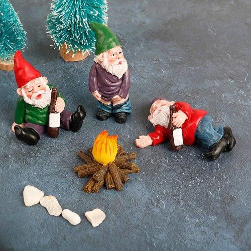 1PC Mini Fairy Garden Miniatures Figurine Gnome Dwarf Micro Small Garden Gnomes Dwarf for Home Garden Outdoor Decoration