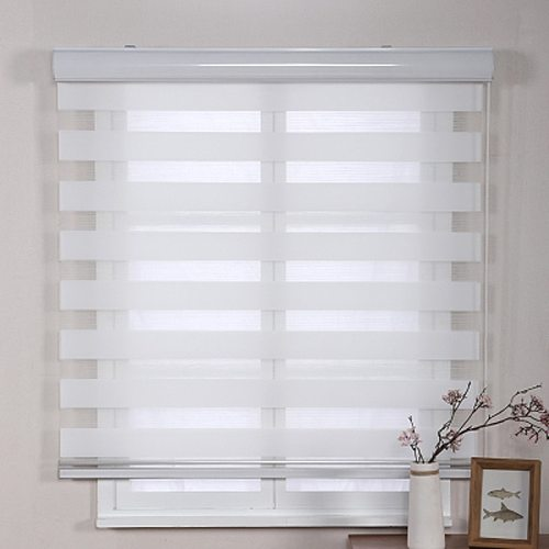 High quality  soft shutter gauze window blinds curtains double layers shading fabrics water proof and oil proof easy to install