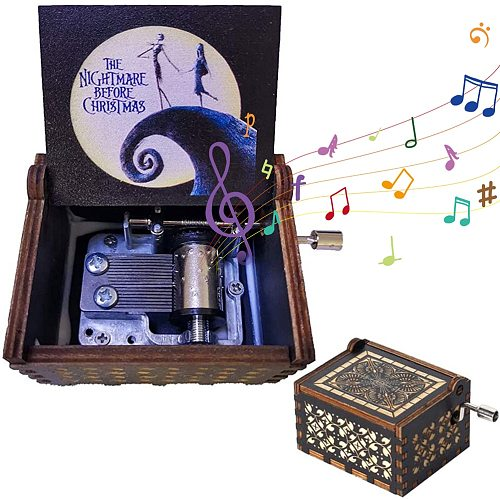 Creative DIY 3D Music Box You Are My Sunshine Wooden Hand Crank Music Christmas Gift Birthday Gift New Year's Gift Dropshipping