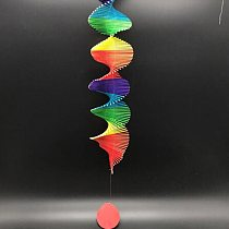 Colorful Home Wisted Rainbow Wind Chime Pendant Outdoor Garden Ornament Decoration DIY Pendant
