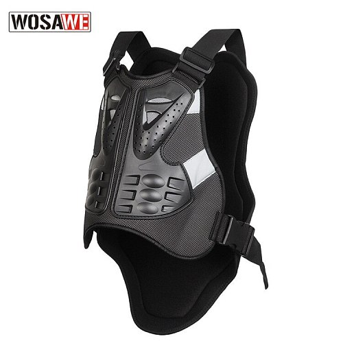 WOSAWE Motorcycle Armor Vest Men Sleeveless Armor Outdoor Motocross Sport Chest Protective Gear Guard Motorbike Vest Protection
