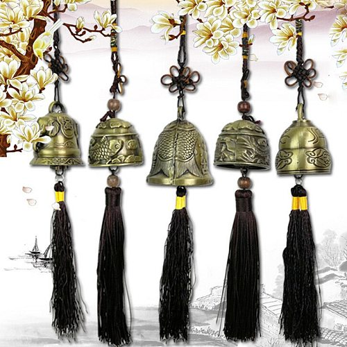 Yunnan National Wind Chime Pendant Clear Door Bell Auspicious Ancient Bronze Bell Trick And Treat Feng Shui Feng Shui Pendant
