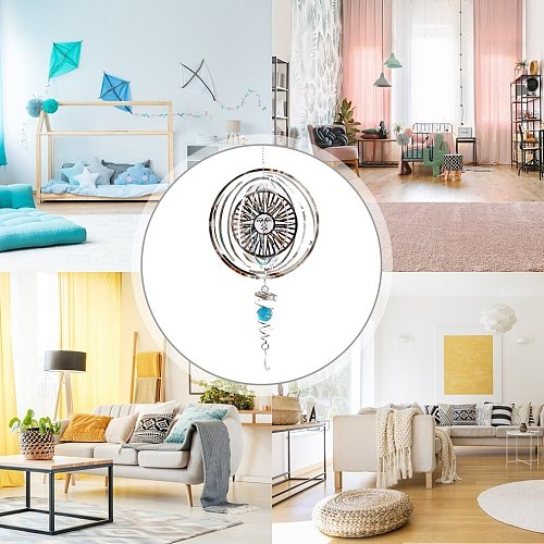 Rotating Mirror Creative Household Pendant Sun Pendant Home Ornaments Bedroom Decorations Wall Hanging Decorations