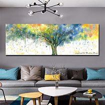 Modular Picture Canvas Prints Waterproof Colorful Money Tree Wall Art Painting Cuadros Decoracion Salon no frame