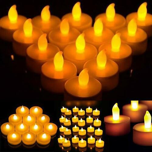 36pcs LED Candles Warm White Led Flameless Candles Battery Operated Moving Artificial Tea Light for Wedding Anniversary Party
