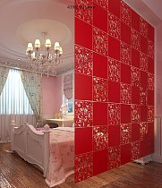 Decoration for home Fashion 4 Pcs Butterfly Bird Flower Hanging Screen Partition Divider Panel Room Curtain Home White/Black/Red