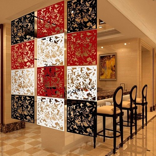 Hollow Out Hanging Screen Plastic Partition Divider Board Restaurant Living Room Curtain Home Decorations Butterfly Bird Flower