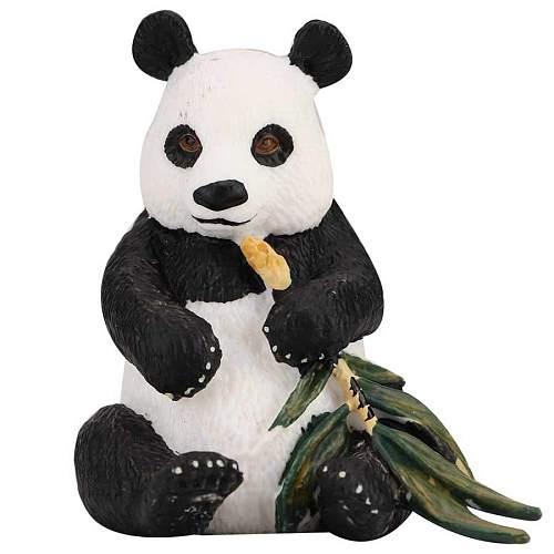 Panda Bear Miniature Figurine Wildlife Model Home Decor Kid Educational Toy BM