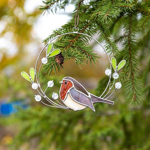 Acrylic Bird Wall Decor Home Room Indoor Wall Windows Art Sculpture Hanging Ornaments Outdoor Garden Tree Decoration Pendants1