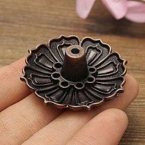 9 Holes Censer Burner Plate Flower Statue Copper Seat Incense Holder Cone