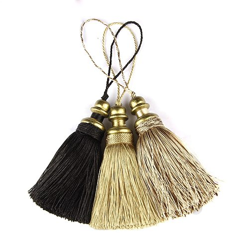 1Pc Hanging Rope Silk Tassels Fringe Sewing For Keychain Straps Jewelry Fringe Tassel DIY Embellish Curtain Accessories