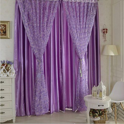 Lovely 100x200cm Circle Bubble Printed Tulle Voile Door Window Balcony Sheer Panel Screen Curtains for Living Room