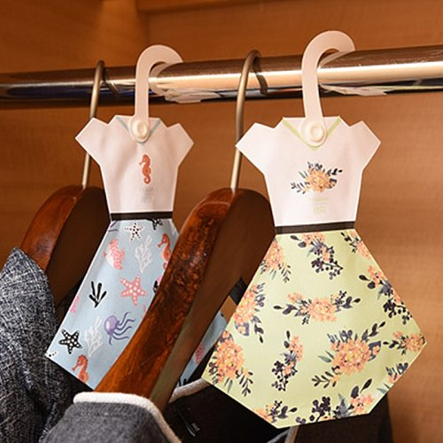 1 Pcs Hangable Car Refreshing Scent Bag Ocean Wardrobe Sachet Air Fresh 9 Kinds Smell Natural Incense Lily drawer Cute skirt
