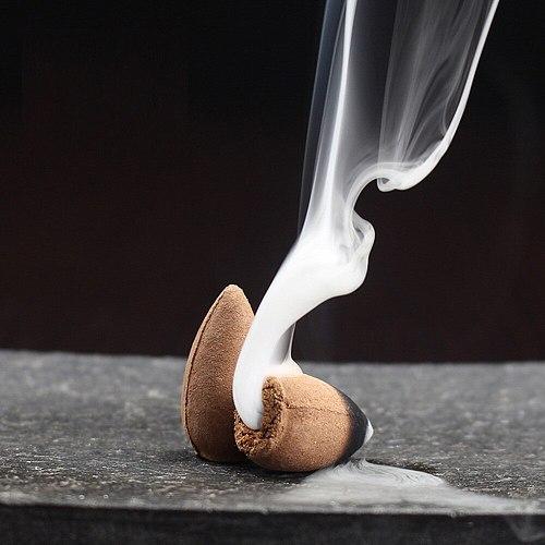 10pcs Backflow Stick Incense Burner Ceramic Censer Incense Smoke Cone Reflux Tower Incense Backflow Incense Bullet #YJ
