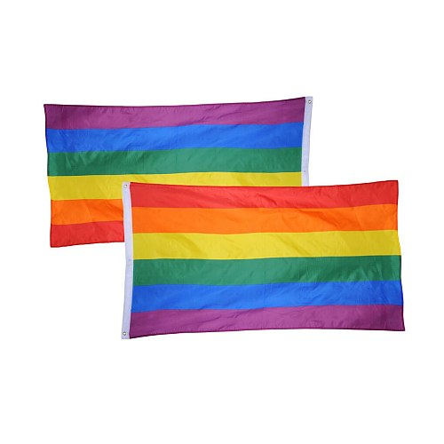 90x150cm LGBT Flag Lesbian Gay Pride Friendly Colorful Rainbow Flag Homosexual Home decorative Accessories