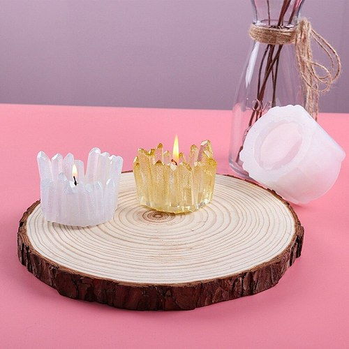 New DIY Resin Mold Candle Holder Silicone Mold Wax Mould Clay Epoxy Uv Craft Making Home Decoration Cement Casting Molds Tools