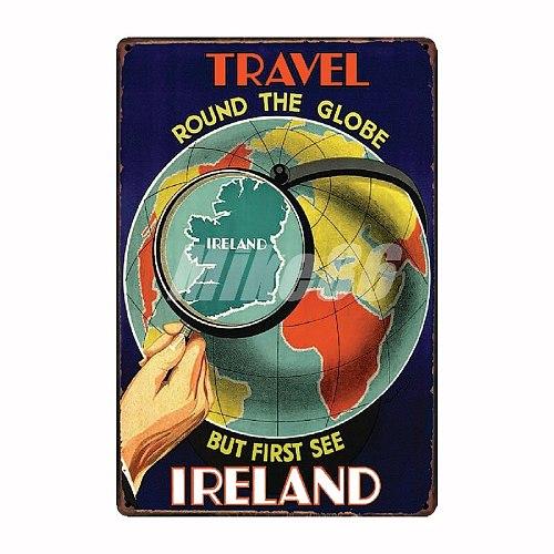 [ Mike86 ] Travel Cites Metal plates India IRELAND posters Vintage Tin Signs  Retro Souvenirs Festival Gift  20*30 CM FG-248