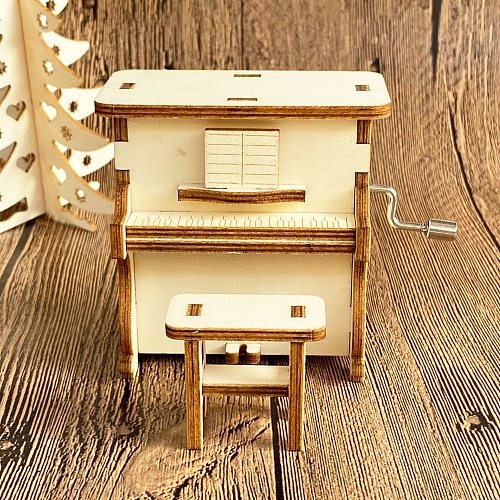 New style hollow carved handmade music box Gift for Alice {friend/child} Christmas decoration Halloween gift music box