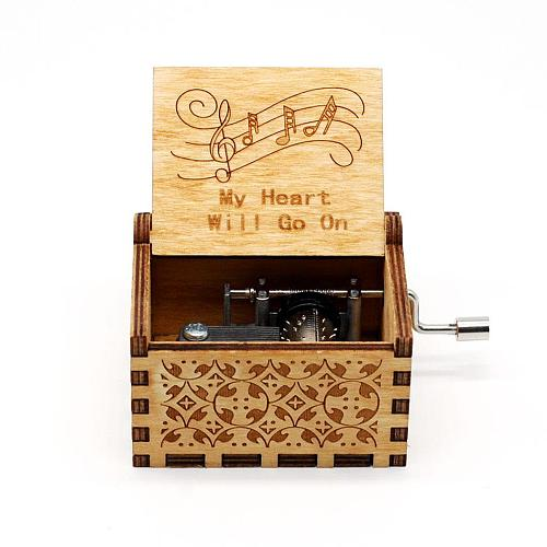 Hand-cranked music box/Across the rainbow to reach the eternal place in my heart, I can't help falling in love music box