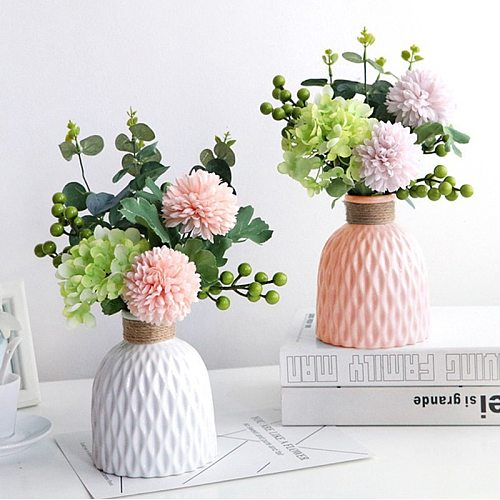Flower Vase Home Flower Arrangement Living Room Origami Plastic Nordic Style Home Decoration Ornament Home Decor Hot Sale