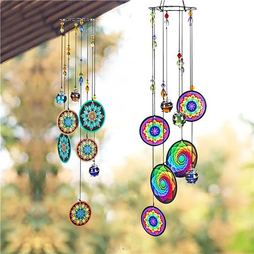 H&D 6 Styles Memorial Wind Chimes Outdoor Decor Window Hanging Windchimes Ornament Fnegshui Decoration for Patio,Balcony,Garden