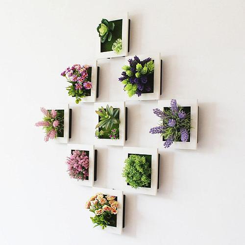 Removable Artificial Flower Plant Frame DIY Wall Decor Frames 3D Wall Sticker Frame Room Home Decoration Wedding Decoration