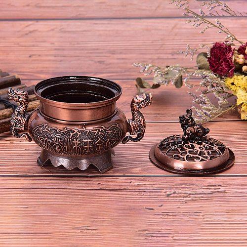1Pcs Vintage Design Tibetan Style Mini Alloy Bronze Incense Burner Censer Metal Craft