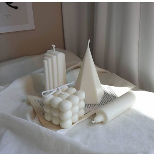 Cylindrical Cube Candle Creative Gift Home Decoration 3D Irregular Cylindrical Aromatherapy Candle Aromatherapy Candle