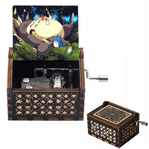 Music Box Totoro Print Music Theme Tonari No Totoro Hand-ed Musical Box Children's Girl Gift Birthday Gift Large Stock