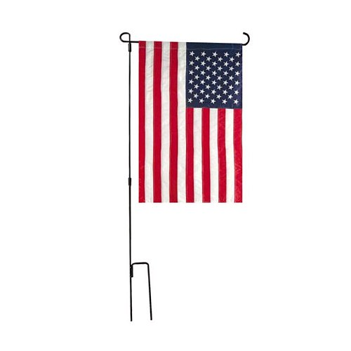 Banners Accessories Garden Flag Stand Flagpole Black Wrought Iron Small Flag Stand For Yard Garden Flag Pole Flag Holder