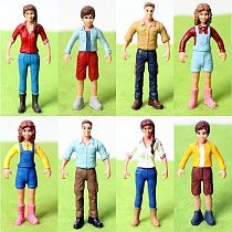 Simulation PVC People Action Figures,Hand Painted Standing Miniature People Model Figurine Decor Decoration Accessories Toys