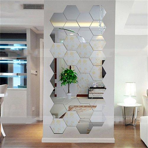 Hexagonal 3D Mirrors Wall Stickers Home Decor Living Room DIY Modern Art Mirror Wall Mural Decoration Vinyl Sticker