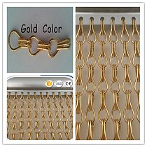 Room decoration divider chain link curtain