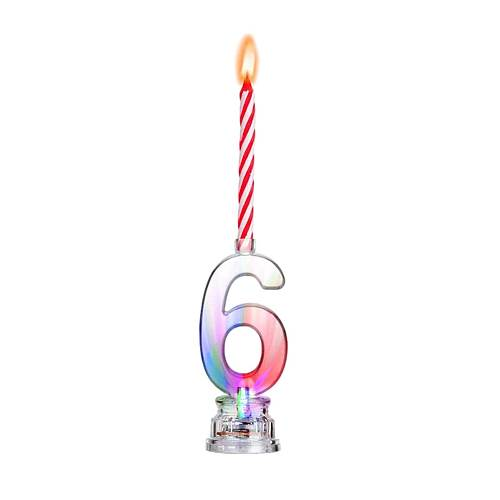 Led Birthday Candle Shiny Numbers Flash Party Cake Decoration DIY Countdown Night Lamp For Wedding Birthday Party