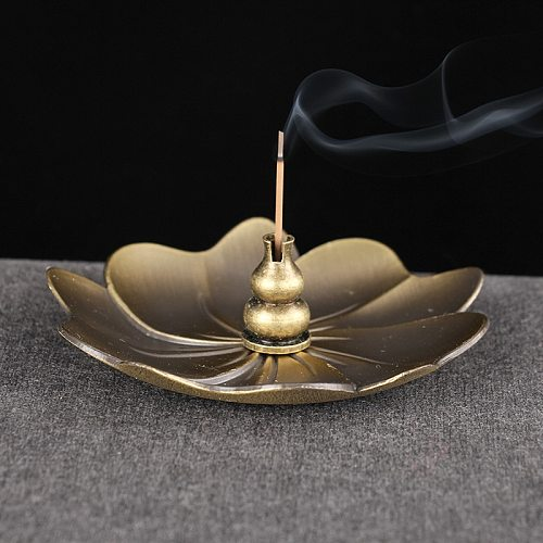Metal Lotus Gourd Incense Base Mini Water Drop Incense Holder for Incense Stick Coil Incense Home Decor Craft
