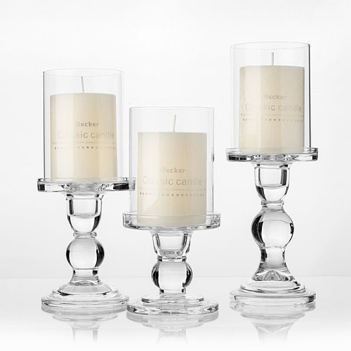 6.5cm Glass Candle holder Votive Vases Transparent Clear Glass Shade Straight Cylinder Glass Lamp Shade