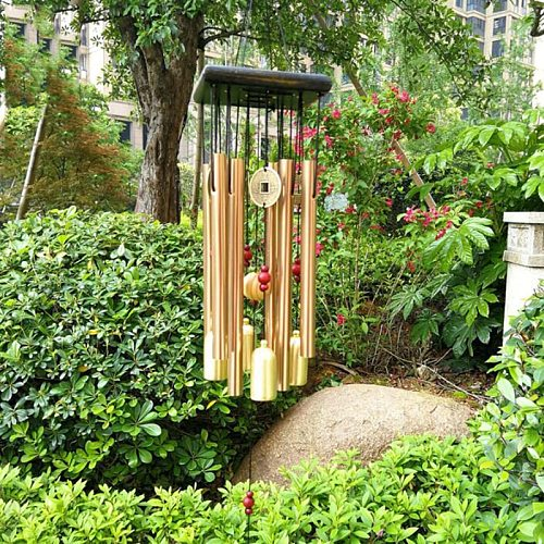 Copper Money Wind Chime Pendant Balcony Outdoor Yard Garden Home Decoration Metal Pipe Wind Chime Large Wind Chimes Bells Tubes